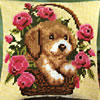 Vervaco 1200-254 Rose Basket Dog