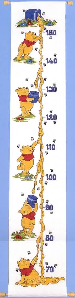 DesignerStitches Dripping Honey Height Chart