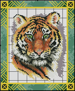 Dimensions 35060 - Dramatic Tiger Portrait
