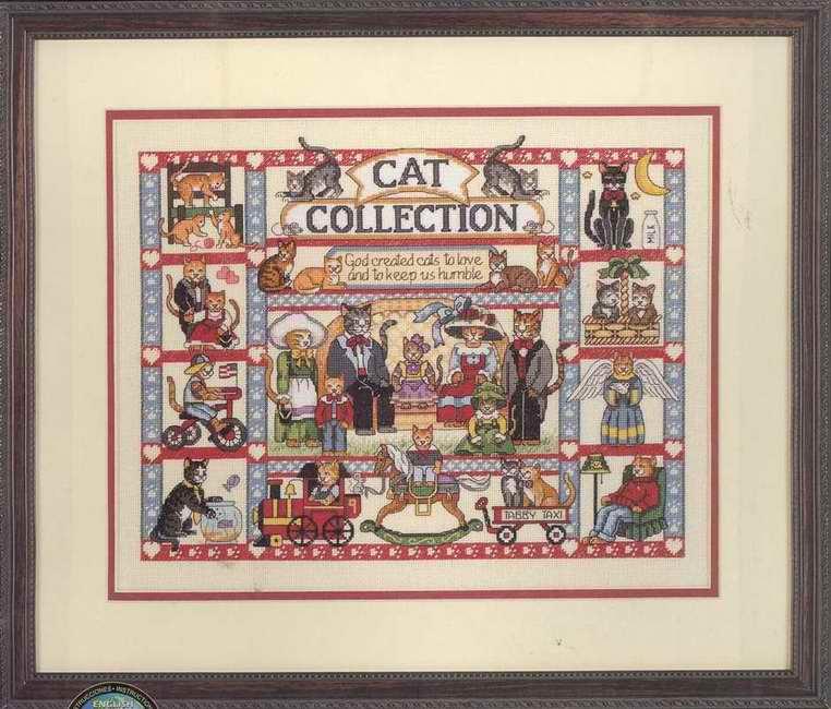 Вышивка коллекция кошек