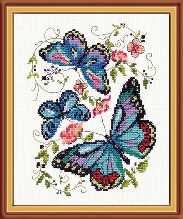 вышивка бабочка схема